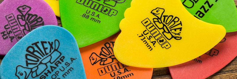 Dunlop Tortex Plectrums, vormen en mogelijkheden
