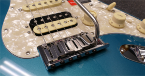Voorbeeld van een Fender gitaarbrug