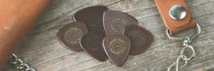 Stapeltje Dunlop plectrums uit de PVP Primetone variety plectrumpack